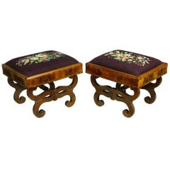 Pair of Classical Mahogany Footstools