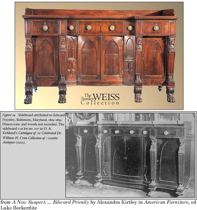 Monumental Mahogany Neoclassical Sideboard, Baltimore For Sale 5