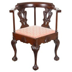 Mahogany Chippendale style Corner Chair in the Philadelphia Mode