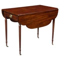 Sheraton Mahogany Pembroke Table, New York
