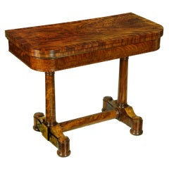Classical Mahogany Card Table, New York, Attributed to Duncan Phyfe