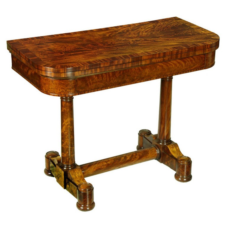 Classical Mahogany Card Table, New York, Attributed to Duncan Phyfe For Sale