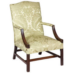 George III Chippendale Mahogany Library Chair, circa 1800