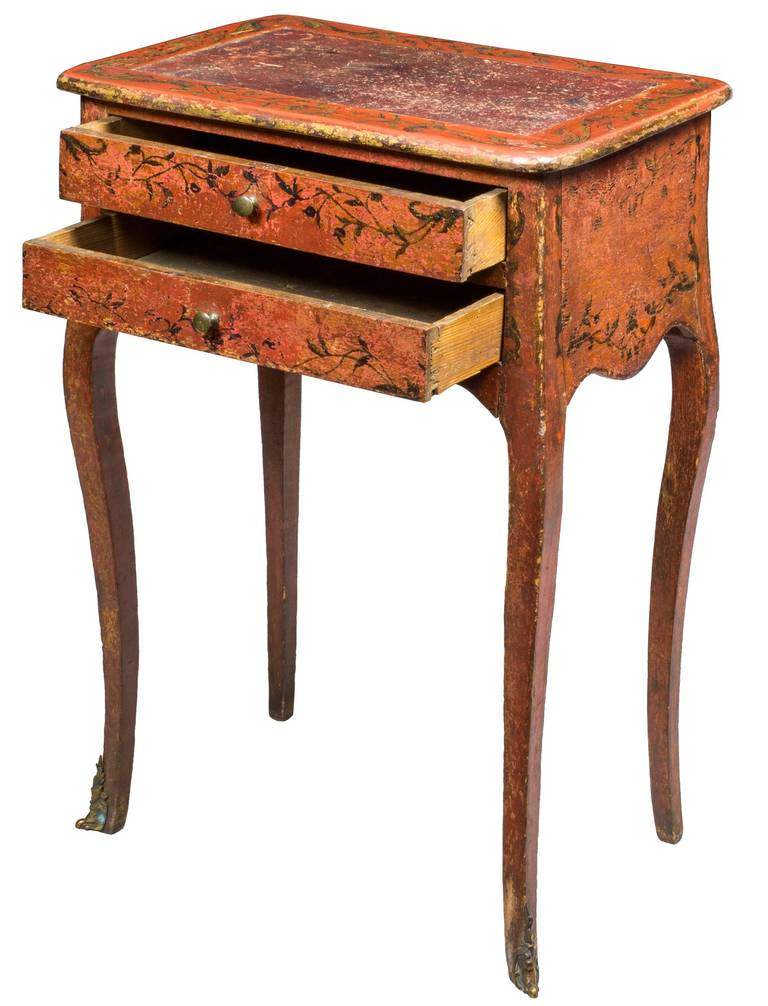 paint decorated work table for sale at 1stdibs. Black Bedroom Furniture Sets. Home Design Ideas