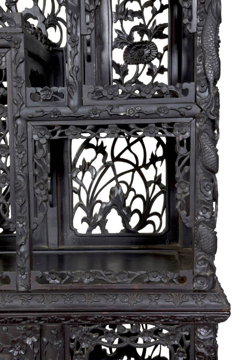 display cabinet or etagere china late 19th to early 20th century at 1stdibs. Black Bedroom Furniture Sets. Home Design Ideas
