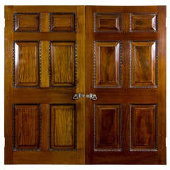 Mahogany Chippendale Interior Doors with Original Paktong Hardware