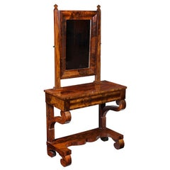 Rare Mahogany Neoclassical Dressing Table, Boston