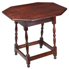 Maple William and Mary Splay-leg Canted Top Tavern Table