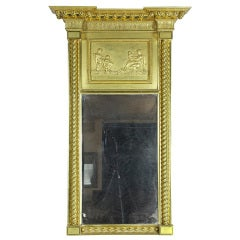 Carved Federal Mirror, Classical Panel by Robert Welford, PA
