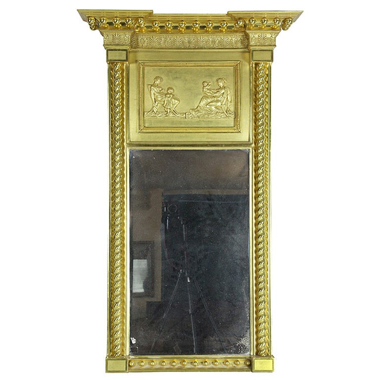 Carved Federal Mirror Classical Panel By Robert Welford