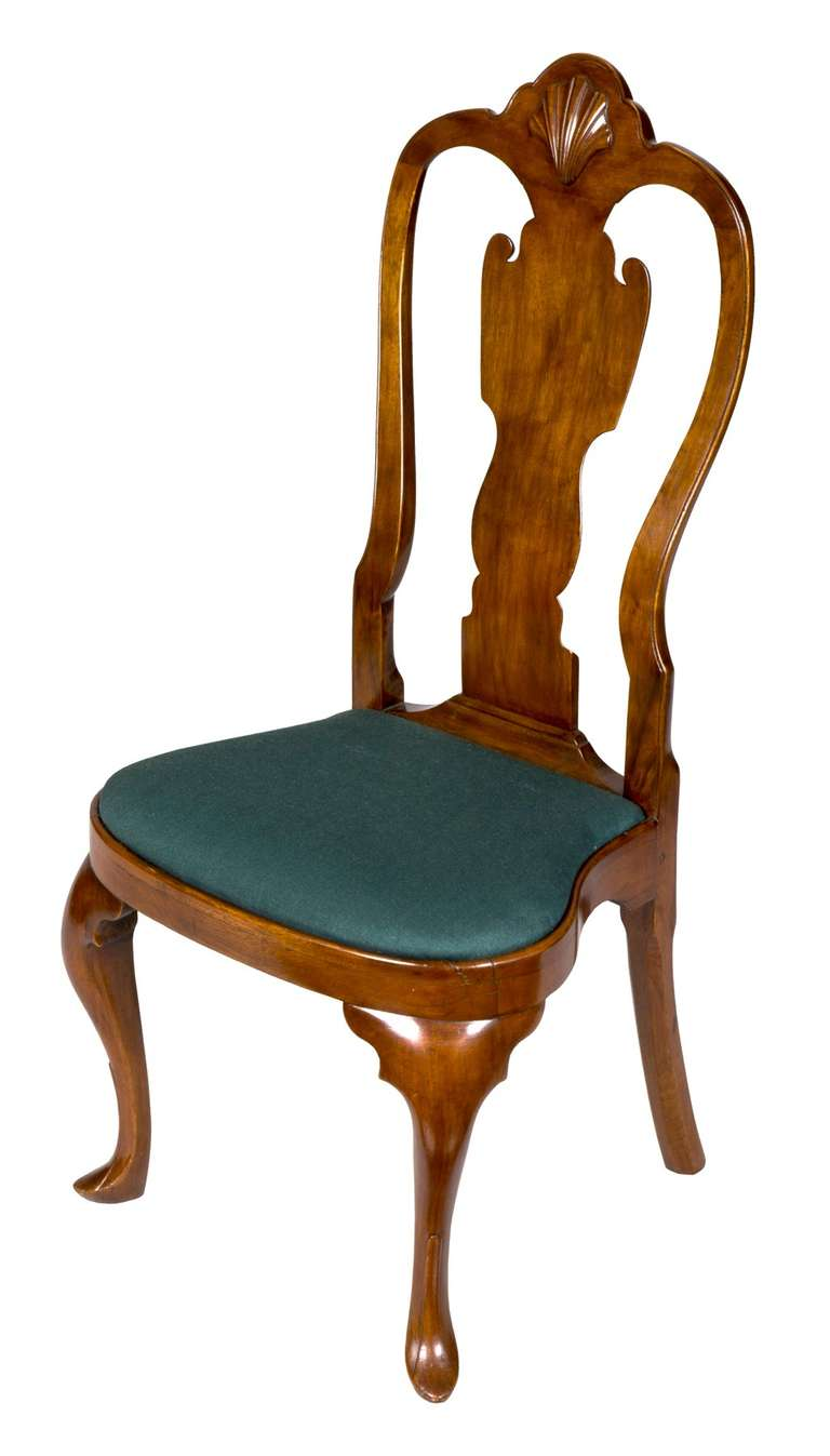 Pairs of these chairs are hard to find and these have no breaks or alterations. They have the beautiful style that many consider the finest of American Queen Anne chair design. They have a beautifully sculpted side profile (see below) and the
