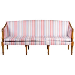 Federal Tiger Maple Sofa, New England, circa 1810