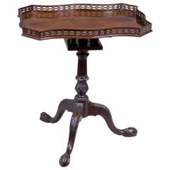 Chippendale/George II Tilt-Top Table, Serpentine Gallery, England, circa 1780