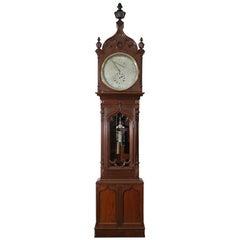Monumental Walnut Gothic Astronomical Regulator, New York