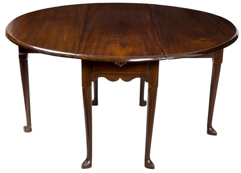 Mahogany Queen Anne Breakfast or Dining Table Drawer  : piece5openl from www.1stdibs.com size 768 x 553 jpeg 25kB