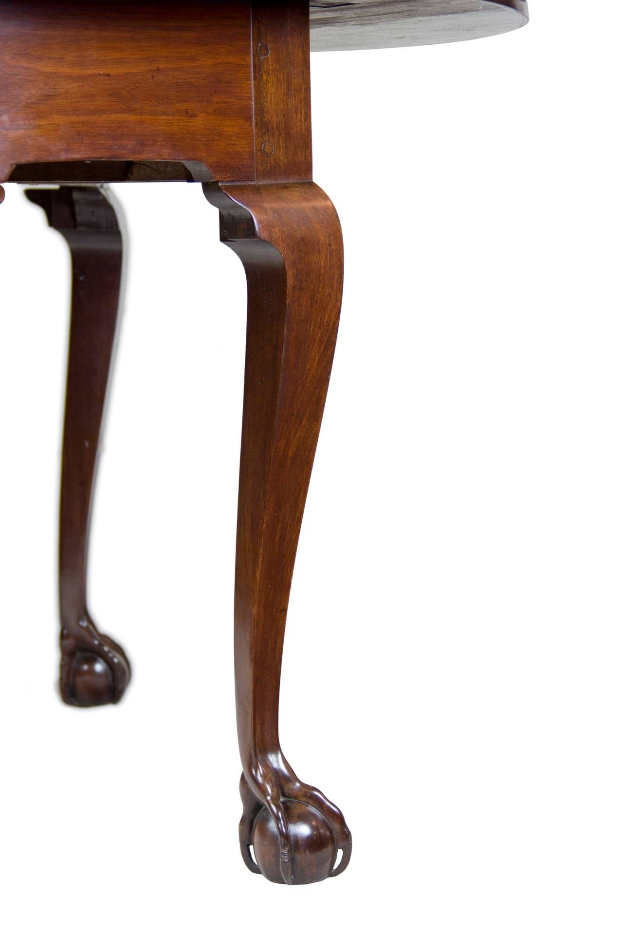Chippendale Drop Leaf Table With Open Talon Claw And Ball