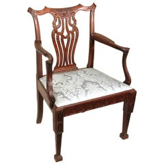 Finely Carved Mahogany Chippendale Armchair