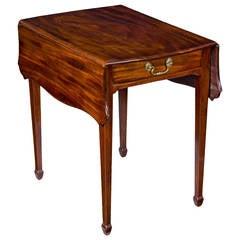Mahogany Pembroke Table Attributed to John Shaw, Annapolis, Maryland, circa 1800