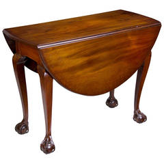 Chippendale Drop-Leaf Table with Open Talon Claw and Ball Feet, Newport
