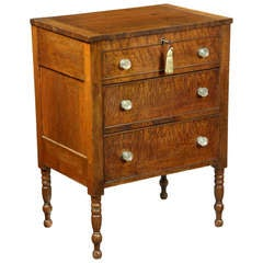 Rare Sugar Chest with Figured Maple Drawer Fronts, Chester County, PA, 1840