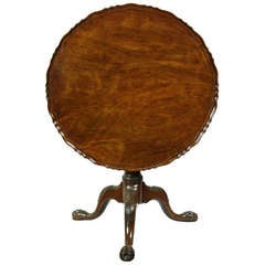 Chippendale Mahogany Tilt-Top Table with Pie Crust Top, England, circa 1780