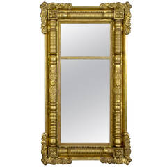 Large Classical Gesso Pier Mirror, New York or Boston, circa 1825