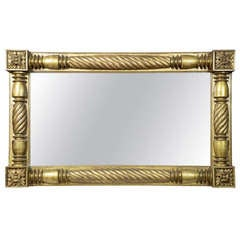 Monumental Neoclassical Gold Leaf Overmantel Mirror, circa 1840