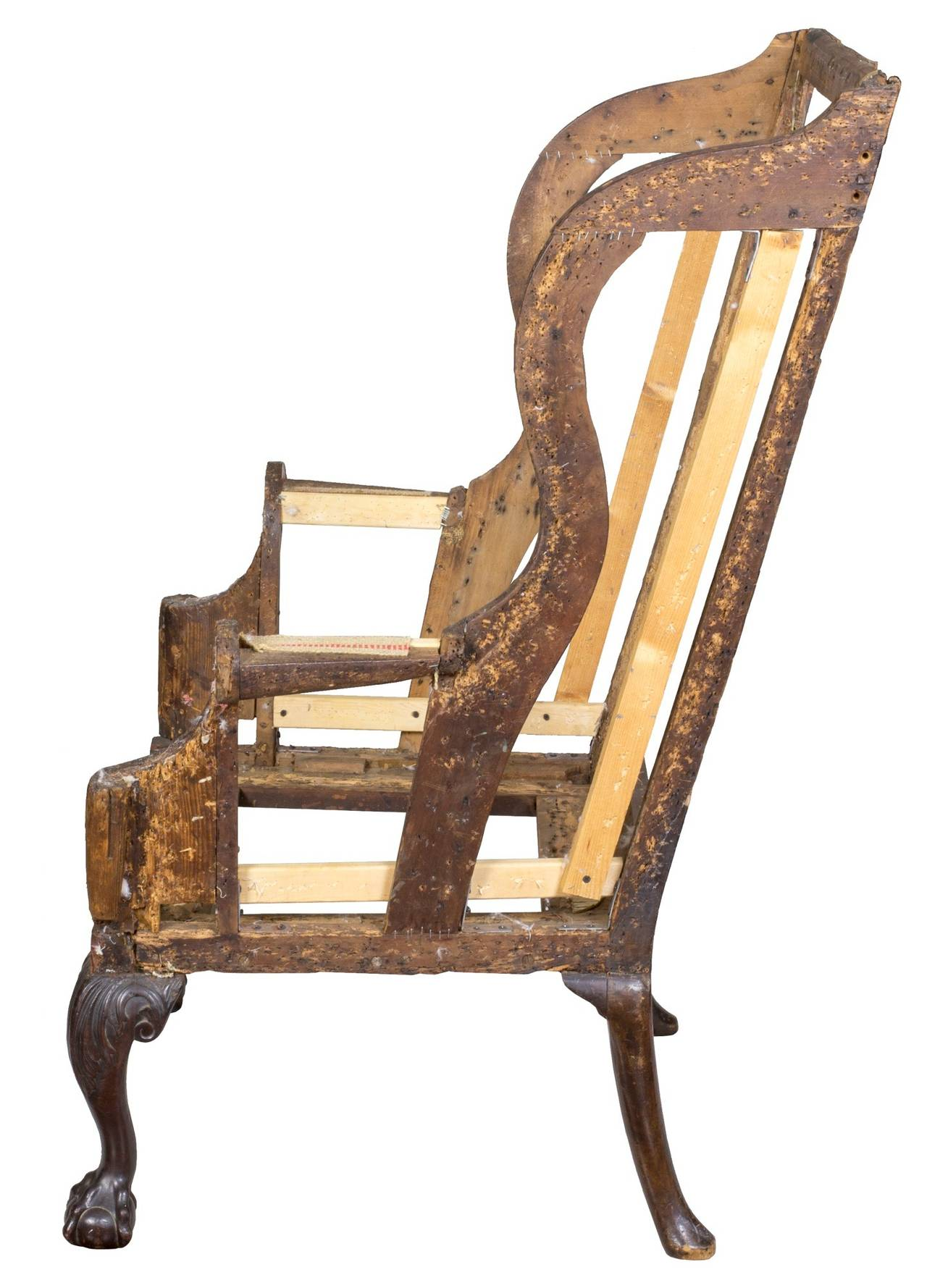 George Iii Wing Chair With Carved Claw And Ball Feet England Circa 1730 For Sale At 1stdibs