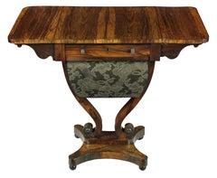 Classical Regency Rosewood Work Table, England, circa 1810-1830
