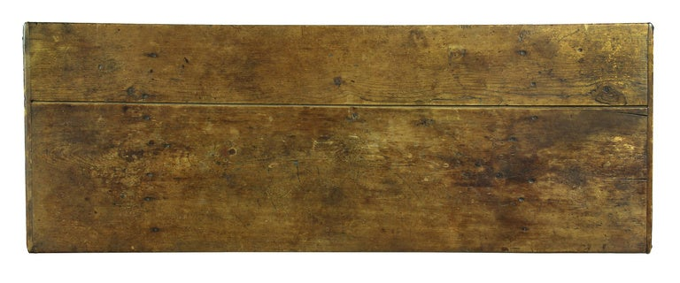 Rare Sawbuck Dining Table of Chestnut and Pine circa Early 18th Century image 2