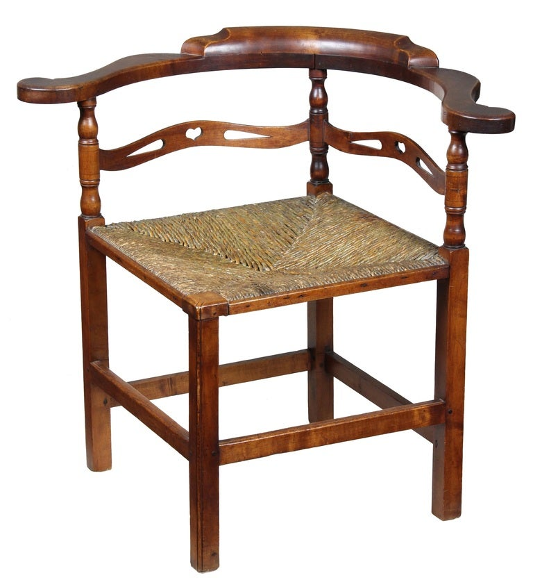 Chippendale Cherry Corner Chair, Probably New Hampshire, Late 18th Century For Sale