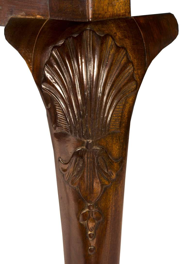 Robust Chippendale Dining Room Table with Carved Knees and  : piece5detail2l from www.1stdibs.com size 768 x 1090 jpeg 70kB