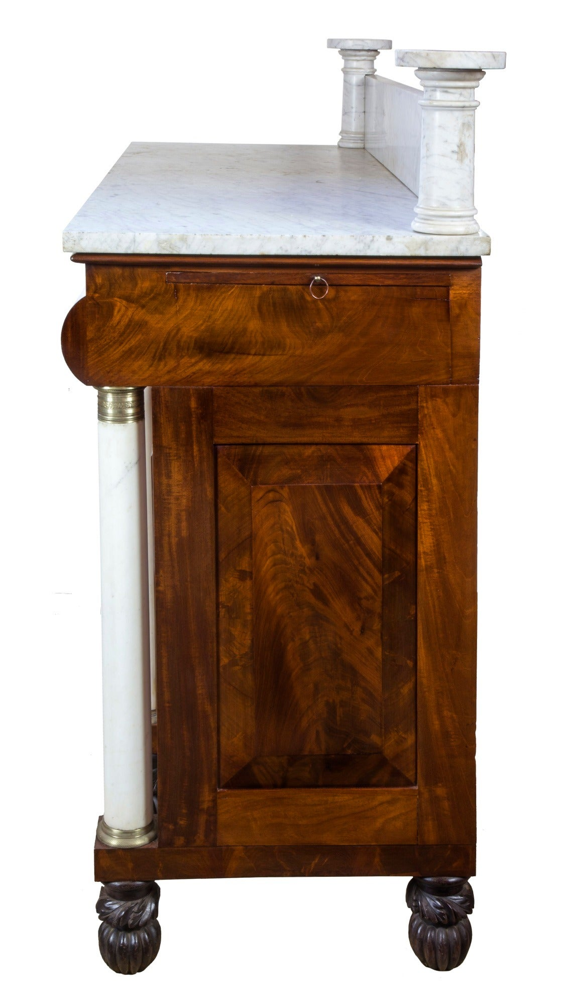 Mahogany and marble classical server or sideboard ny for Furniture 1825