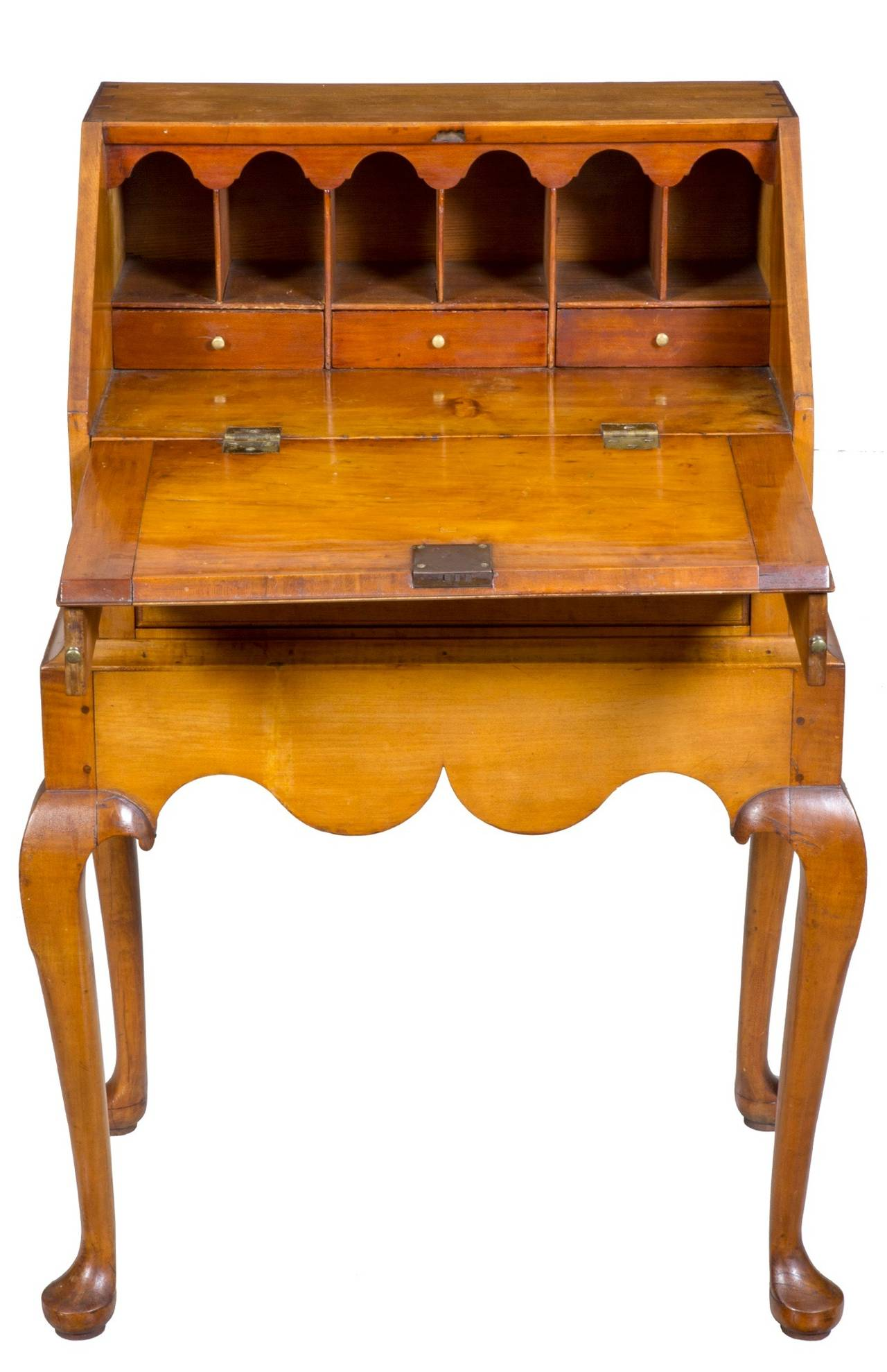 American Diminutive Maple Queen Anne Lady S Child Desk On Frame M Circa 1760