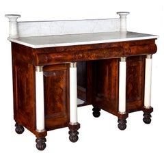 Mahogany and Marble Classical Server or Sideboard, NY, circa 1825-1835