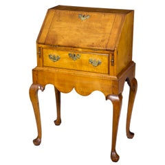 Diminutive Maple Queen Anne Lady's / Child's Desk on Frame, Salem, circa 1760