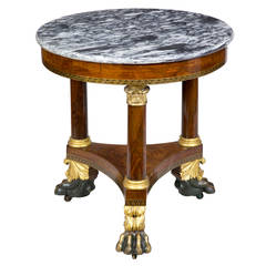 Small Classical Marble-Top Center Table, Philadelphia, circa 1830