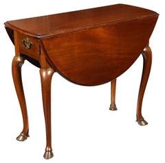 Rare Hoofed Queen Anne Pembroke Table