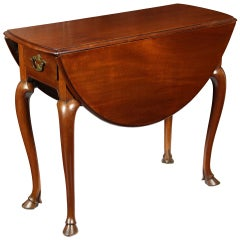 Rare Hoofed Queen Anne Pembroke Table