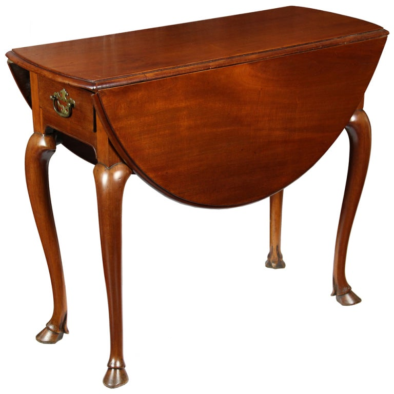 Rare Hoofed Queen Anne Pembroke Table For Sale