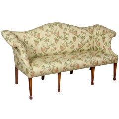 Diminutive Mahogany and Satinwood Hepplewhite Settee, England, circa 1800