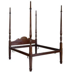 Early Sheraton and Federal Mahogany Tall Post Bed