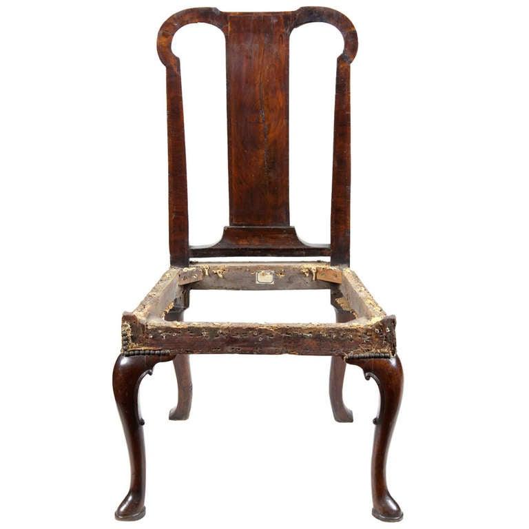 Mahogany Queen Anne Side Chair, England, Circa 1740 1