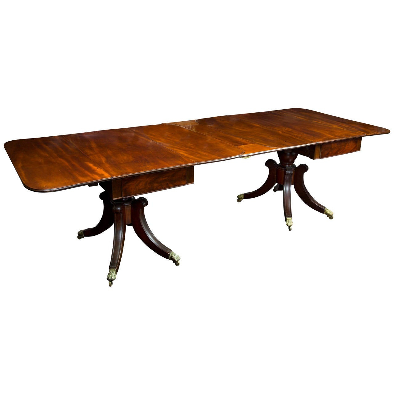 Fine Classical Mahogany Pedestal Dining Room Table Boston Circa 1820 For Sale At 1stdibs