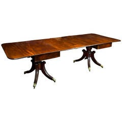 Fine Classical Mahogany Pedestal Dining Room Table, Boston, circa 1820