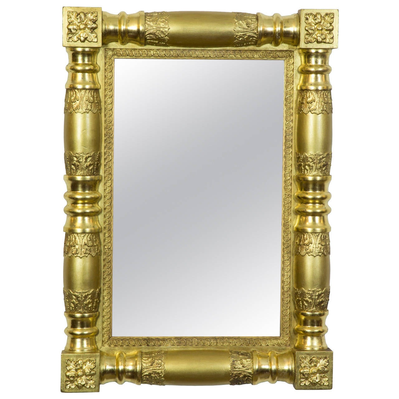 Gilt Classical Mirror With Original Glass Backboards American Circa 1830
