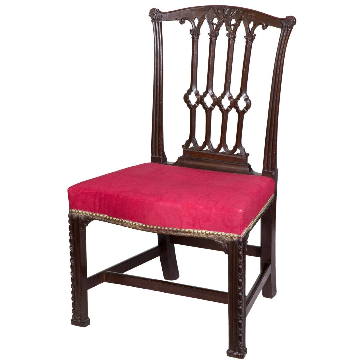 Chippendale Furniture: Exquisite Chippendale George II Mahogany Side Chair