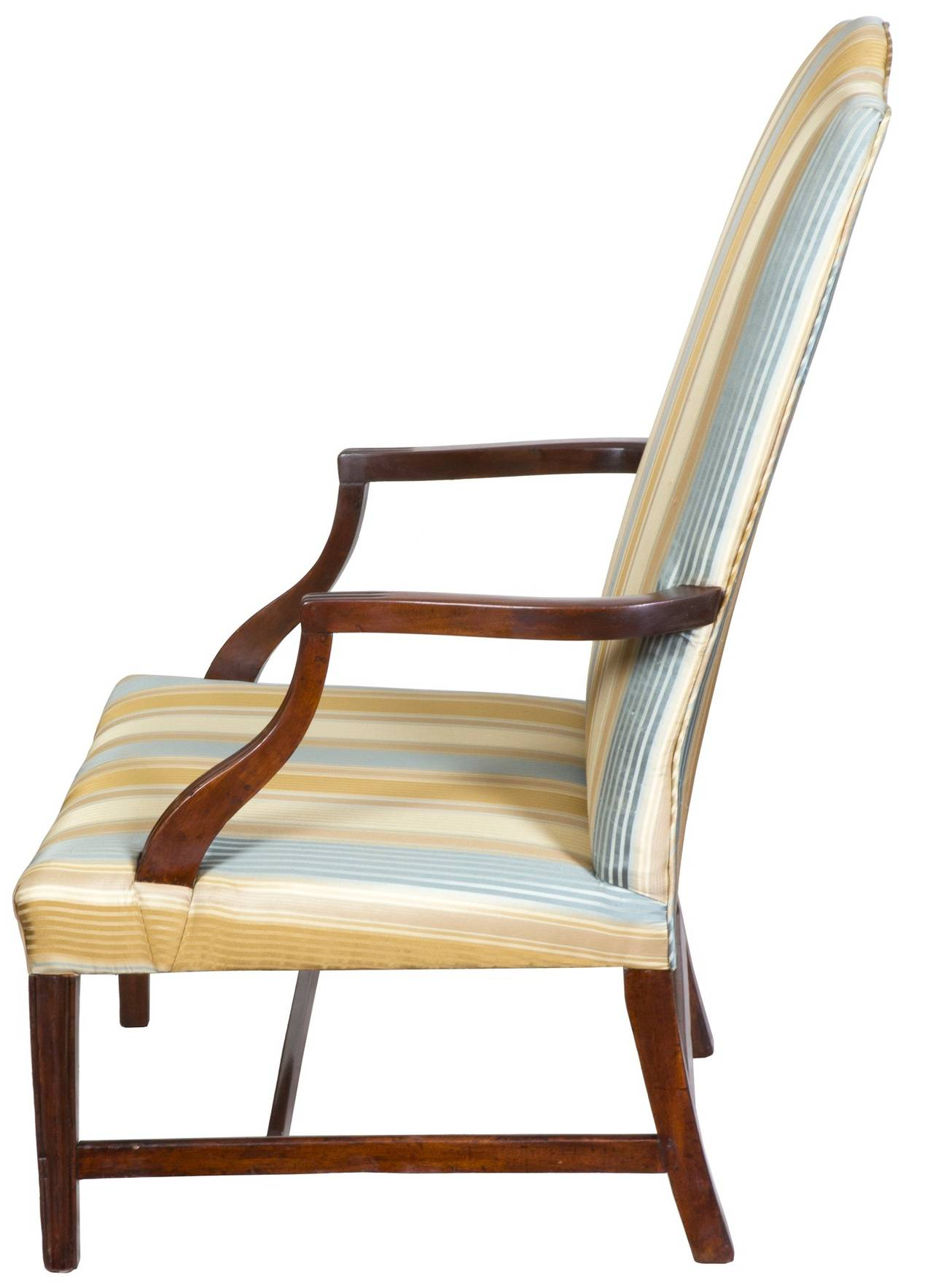 Mahogany Federal Lolling Chair Boston Or North Shore