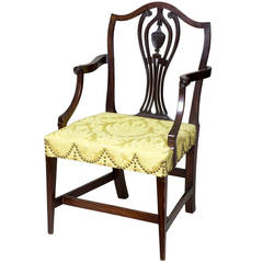 Mahogany Hepplewhite Armchair, Rhode Island or Connecticut, circa 1800