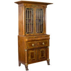 Monumental Mahogany Bookcase with Drawers, NY, circa 1830
